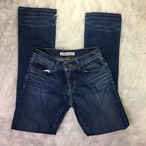 J Brand Girls Skinny Denim Distressed Jeans